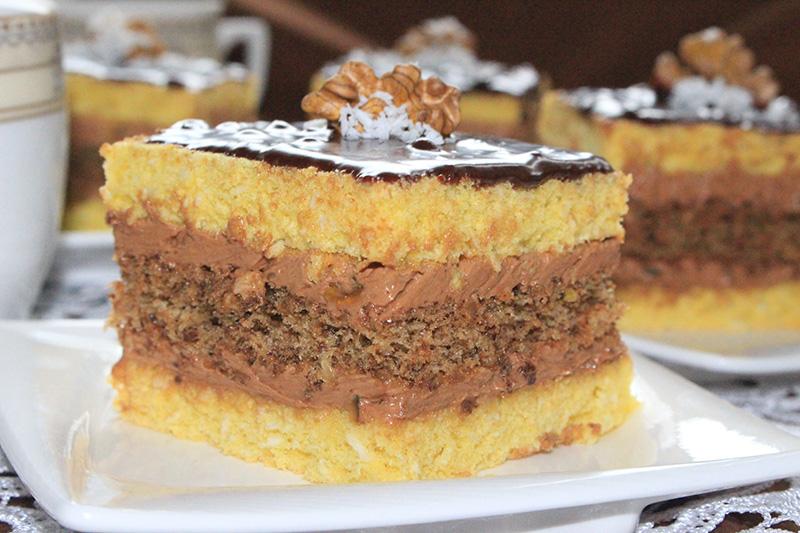 Ciasto Kokosowo Orzechowe Z Masa Truflowa Kulinarny Przepis